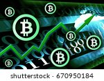 bitcoin currency growth  ... | Shutterstock . vector #670950184