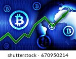 bitcoin currency growth  ... | Shutterstock . vector #670950214