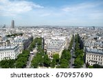 beautiful aerial view of paris  ... | Shutterstock . vector #670957690