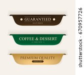 Coffee Premium Label Gold Colo...