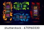 futuristic frame art design... | Shutterstock .eps vector #670960330