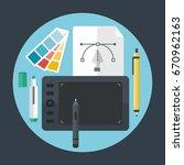 flat design style vector...   Shutterstock .eps vector #670962163