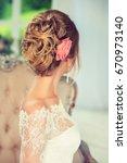 beautiful model with elegant... | Shutterstock . vector #670973140
