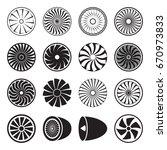 turbine icons. vector... | Shutterstock .eps vector #670973833