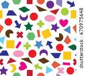 seamless vector shape sign...   Shutterstock .eps vector #670975648