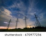 silhouette of electricity... | Shutterstock . vector #670977256