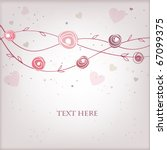 vintage greeting card with... | Shutterstock .eps vector #67099375