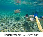 day trip snorkeling from caye... | Shutterstock . vector #670994539