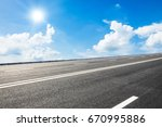 asphalt road and sky cloud...   Shutterstock . vector #670995886