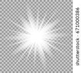 glowing light effect on... | Shutterstock . vector #671000386