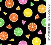 fruit seamless pattern  ...   Shutterstock . vector #671000770