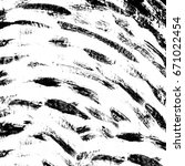 grunge black and white abstract.... | Shutterstock . vector #671022454