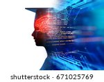 3d rendering of virtual human... | Shutterstock . vector #671025769