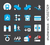 subway color icons | Shutterstock .eps vector #671027329