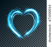 shiny heart shaped frame on... | Shutterstock .eps vector #671030014
