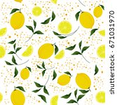 vector seamless pattern with... | Shutterstock .eps vector #671031970