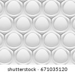 white shaded abstract geometric ... | Shutterstock . vector #671035120