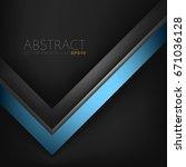 abstract vector blue arrow... | Shutterstock .eps vector #671036128