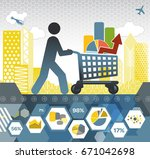 collecting data | Shutterstock .eps vector #671042698