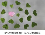 the transparency pink heart... | Shutterstock . vector #671050888