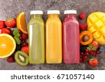 fruit juice smoothie | Shutterstock . vector #671057140