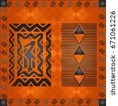 african culture symbolic... | Shutterstock .eps vector #671061226
