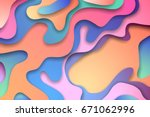 colorful 3d abstract background ...   Shutterstock .eps vector #671062996