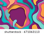 colorful 3d abstract background ... | Shutterstock .eps vector #671063113