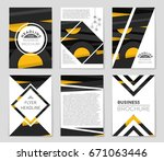 abstract vector layout... | Shutterstock .eps vector #671063446