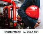 abstract engineer contractor... | Shutterstock . vector #671065504