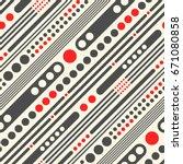 seamless diagonal stripe and... | Shutterstock .eps vector #671080858