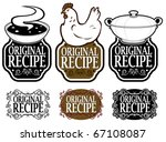 original recipe seals collection   Shutterstock .eps vector #67108087