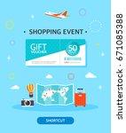 shopping template illustration | Shutterstock .eps vector #671085388
