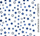 star seamless background....   Shutterstock .eps vector #671088370