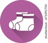 booties baby icon. vector.... | Shutterstock .eps vector #671091754
