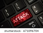 message on broken red enter key ... | Shutterstock . vector #671096704