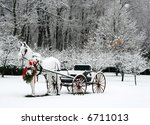 holiday winter scene - stock photo