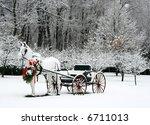 holiday winter scene - stock photo