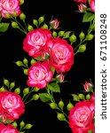 floral seamless pattern.... | Shutterstock . vector #671108248