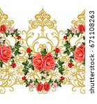 garland  bouquet of delicate... | Shutterstock . vector #671108263