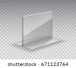 acrylic table card holder... | Shutterstock .eps vector #671123764