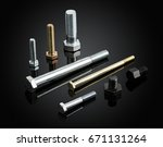 bolts and screw for hardware... | Shutterstock . vector #671131264