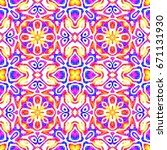 abstract colorful tile pattern  ... | Shutterstock . vector #671131930