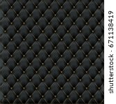 leather texture luxury black...   Shutterstock .eps vector #671138419