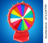 colorful wheel of luck or... | Shutterstock . vector #671139799