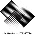 rectangle logo with lines... | Shutterstock .eps vector #671140744