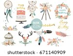 card template collection for...   Shutterstock .eps vector #671140909