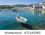 Kokkari Village View In Samos...