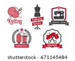 tailoring service icons set for ...   Shutterstock .eps vector #671145484