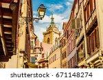 colmar  france   june 15  2017  ... | Shutterstock . vector #671148274